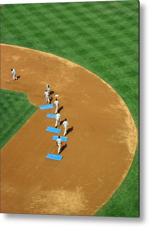 Sports Metal Print featuring the photograph Between Innings by Mike Martin