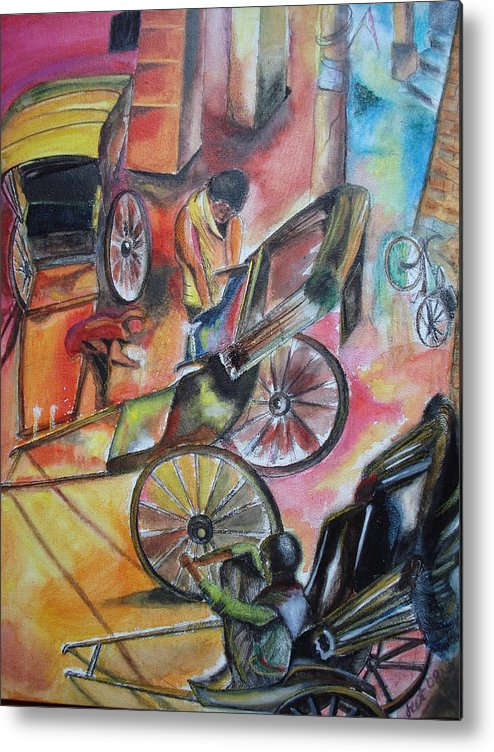 Candle Lit Metal Print featuring the mixed media Celebration by Prasenjit Dhar