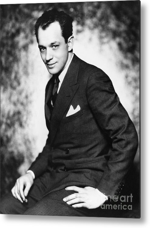 1928 Metal Print featuring the photograph Charles Macarthur by Granger