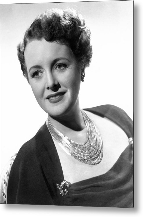 1940s Portraits Metal Print featuring the photograph Claudia And David, Mary Astor, 1946 by Everett