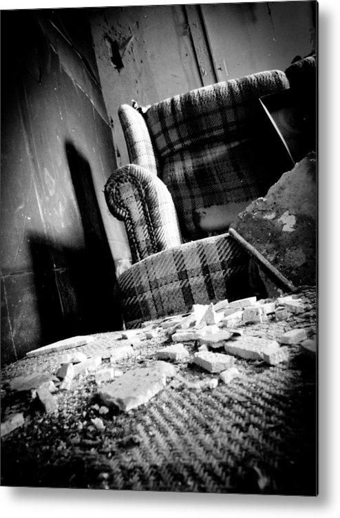 Abandoned Metal Print featuring the photograph Come Sit For A Spell by Jessica Brawley
