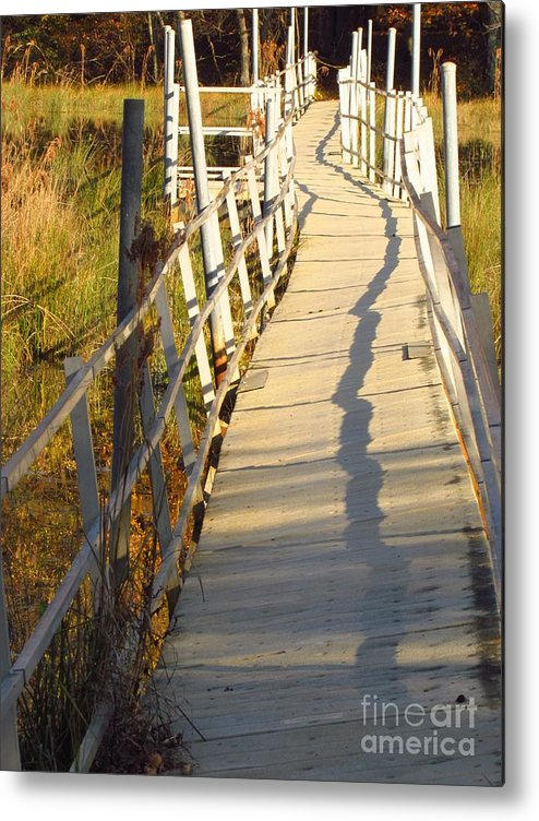 Bridge Metal Print featuring the photograph Crooked Bridge by Rrrose Pix