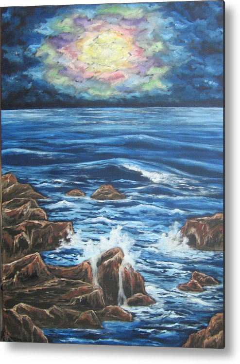 Beach Metal Print featuring the painting Dancing Skies 2 by Cheryl Pettigrew