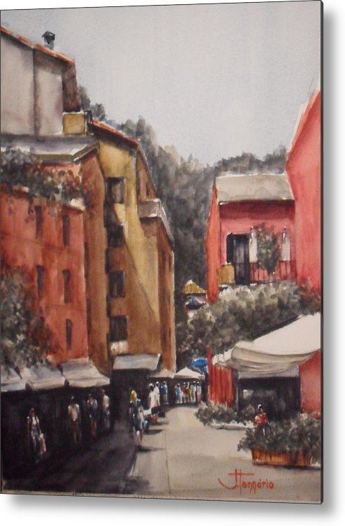Metal Print featuring the painting Dia De Compras Na Riviera by Jorge Tennorio