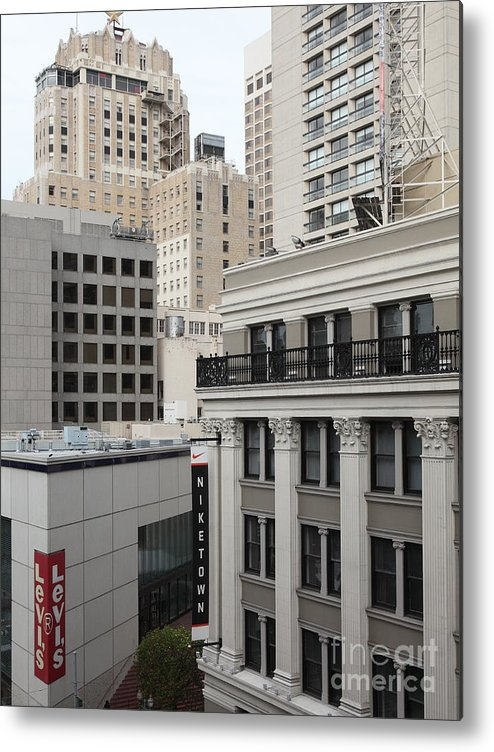 San Francisco Metal Print featuring the photograph Downtown San Francisco Buildings - 5d19323 by Wingsdomain Art and Photography