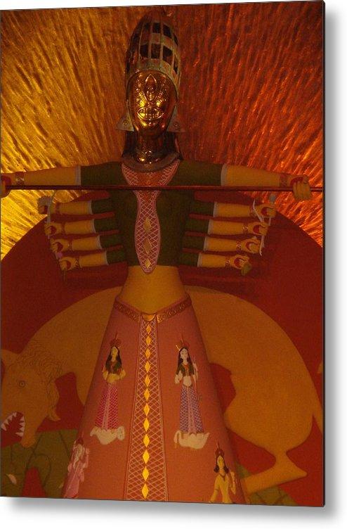 Installation Art Metal Print featuring the photograph Durga by Prasenjit Dhar