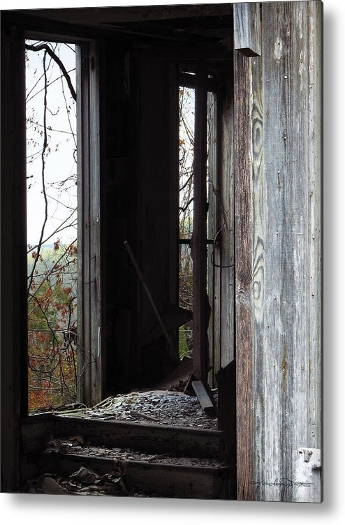 Abandoned Building Metal Print featuring the photograph Echoes by Karen Casey-Smith