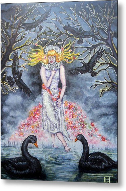 Trees Metal Print featuring the painting Fair Maiden by Amiee Johnson