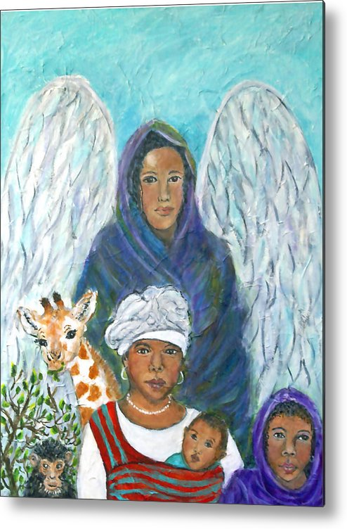 Angel Metal Print featuring the painting For The Love Of Charlotte by The Art With A Heart By Charlotte Phillips