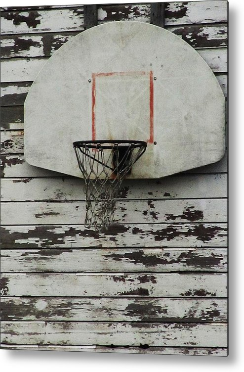 Basketball Backboard Metal Print featuring the photograph Hoops by Todd Sherlock