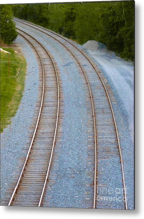 Railroad Metal Print featuring the photograph I Curve To The Left 2 by Mark Dodd
