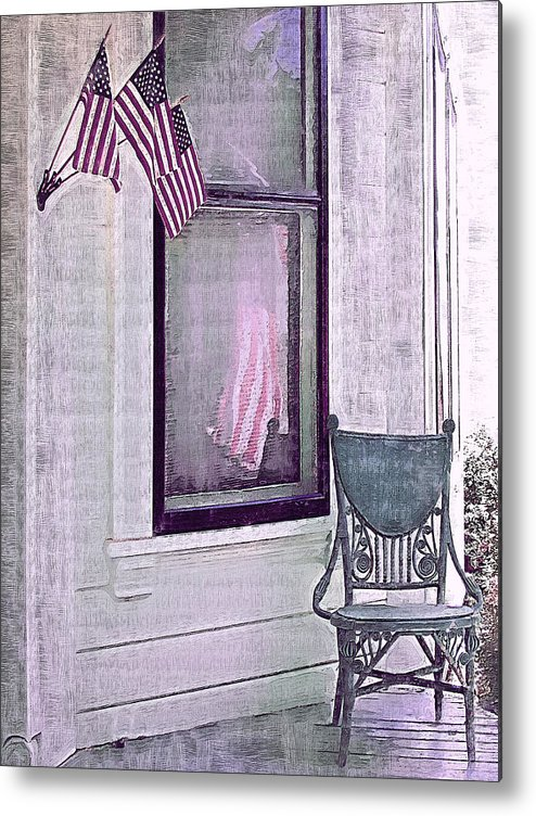 Vintage Metal Print featuring the photograph Independence Day by Susan Lee Giles