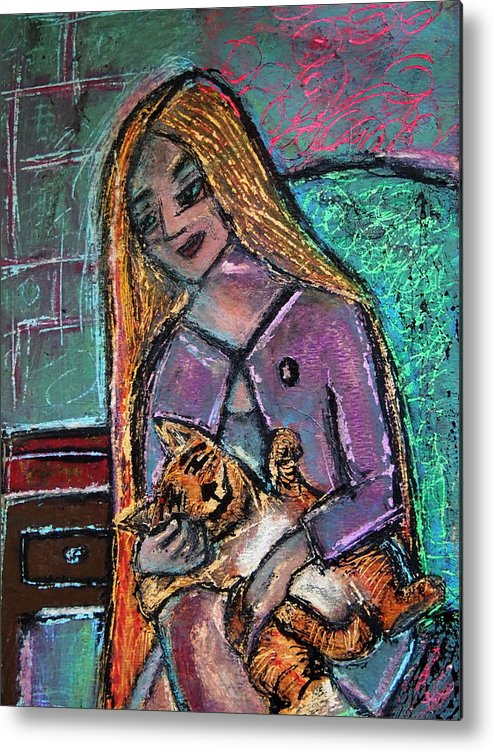 Gastonia Metal Print featuring the painting Just Fine Alone by Tammy Cantrell