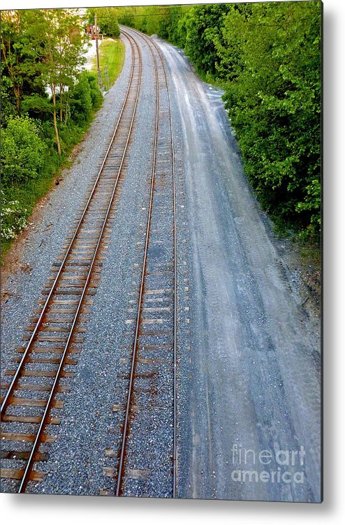 Railroad Metal Print featuring the photograph Long And To The Left by Mark Dodd