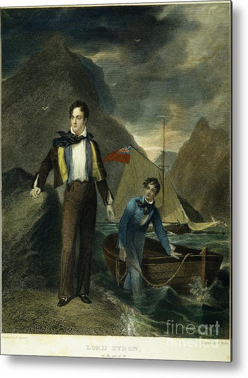 1807 Metal Print featuring the photograph Lord Byron by Granger