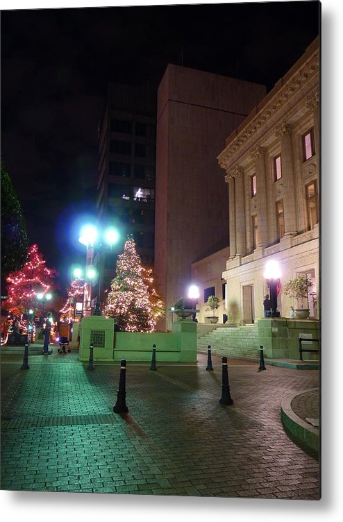 Greenville Metal Print featuring the photograph Main Street Nights 11 by Craig Johnson