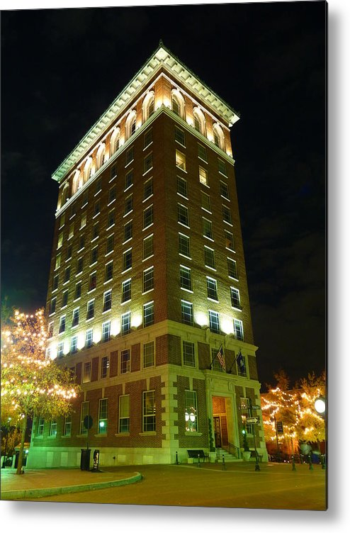 Greenville Metal Print featuring the photograph Main Street Nights 9 by Craig Johnson
