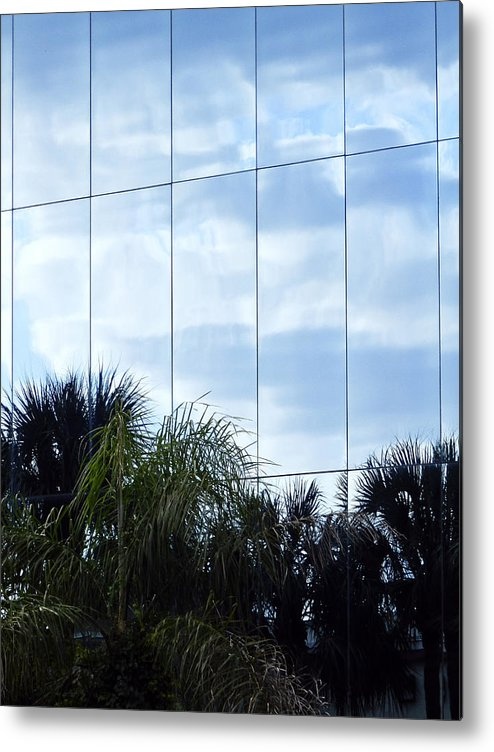 Architectur Metal Print featuring the photograph Mirrored Facade 1 by Stuart Brown