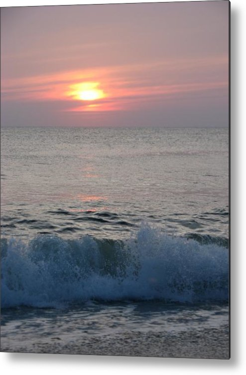 Beach Metal Print featuring the photograph New Day by April Camenisch