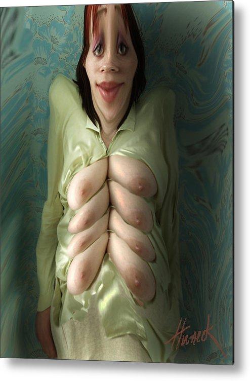 Erotic Humor Metal Print featuring the digital art Octomom by John Huneck