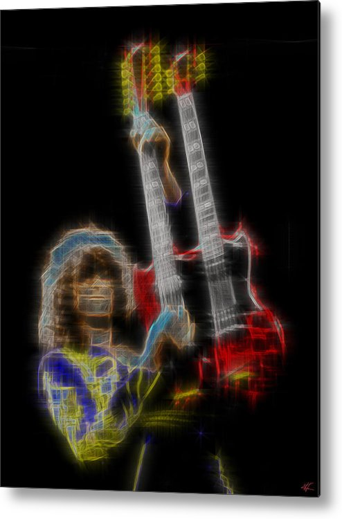 Led Zeppelin Metal Print featuring the digital art Zoso by Kenneth Armand Johnson