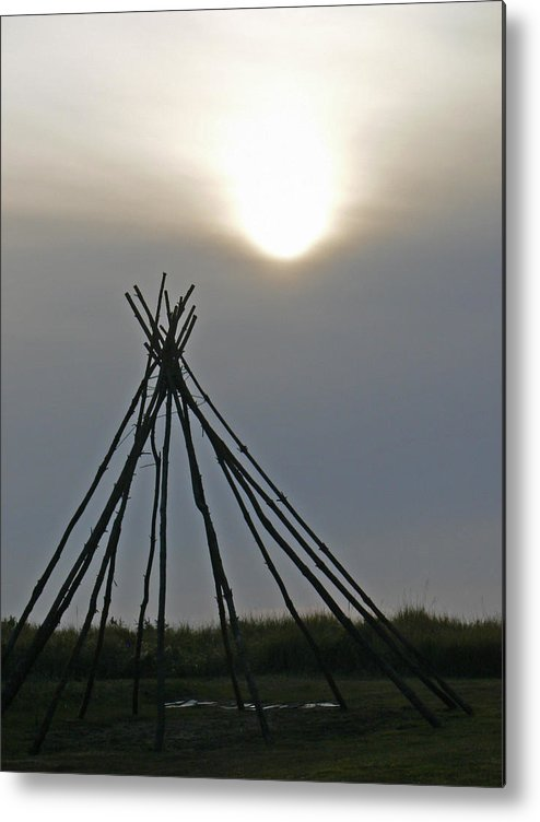 Native Metal Print featuring the photograph Shadow Dreams by Pamela Patch
