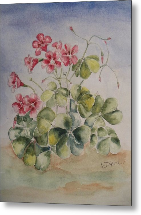 Plant Metal Print featuring the painting Shamrock by Lugenia Dixon