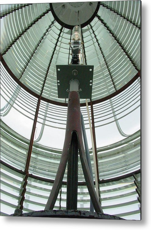 Lighthouse Metal Print featuring the digital art Shine On by Wide Awake Arts