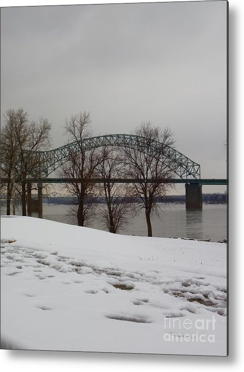 Bridge Metal Print featuring the photograph Southern Snow by Charleen Treasures
