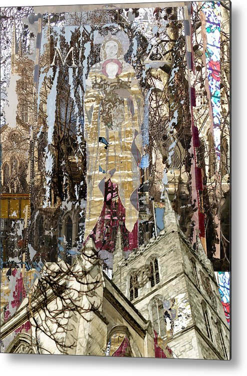 Metal Print featuring the digital art Southwark Cathedral by Sally Fowler