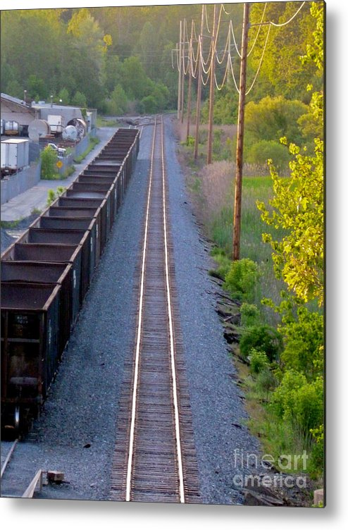 Railroad Metal Print featuring the photograph Straight Line by Mark Dodd