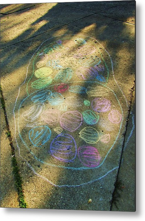 Chalk On The Sidewalk Metal Print featuring the photograph Summer Sidewalk Fun by Todd Sherlock