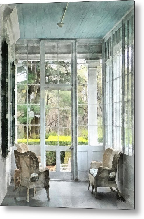 Porch Metal Print featuring the photograph Sun Porch by Susan Savad