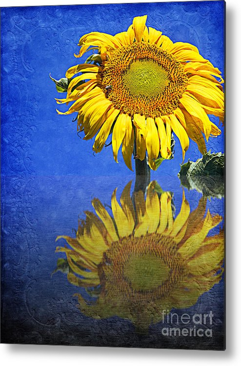 Sunflower Metal Print featuring the photograph Sunflower Reflection by Andee Design