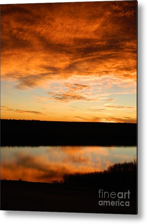 Sunrise Metal Print featuring the photograph Sunrise Reflections by Sara Mayer