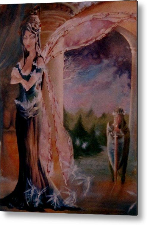 Tamlin Fairy Queen Poem Metal Print featuring the painting Tamlin by Jackie Rock