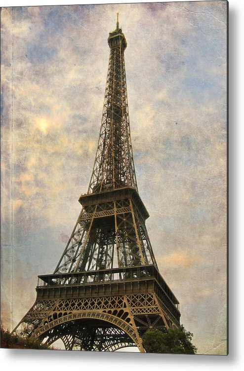 The Eiffel Tower Metal Print featuring the photograph The Eiffel Tower by Laurie Search