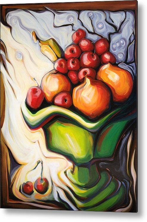 Light Metal Print featuring the painting The Green Vase by Terre Britton
