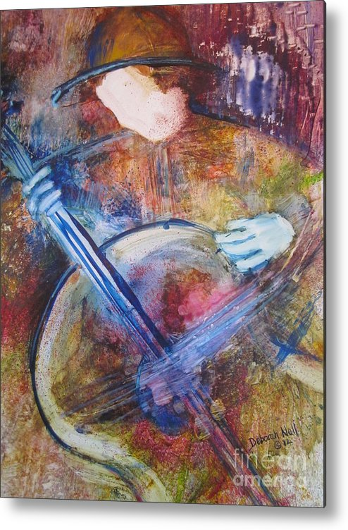 Guitar Metal Print featuring the painting The Guitar Player by Deborah Nell