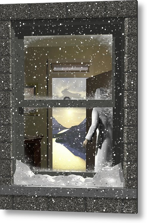 Landscape Metal Print featuring the digital art The Window by Christopher Lynch
