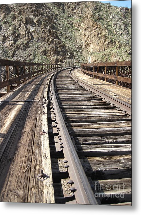 Train Tracks Metal Print featuring the photograph Trestle Tracks by Baywest Imaging