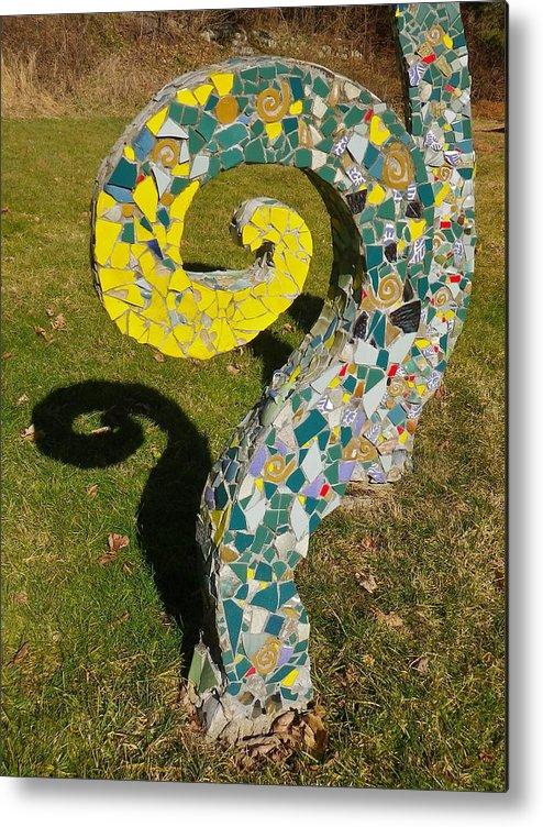 Broken Metal Print featuring the photograph Underground Octopus by Anna Ruzsan