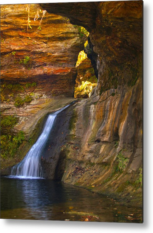 Falls Metal Print featuring the photograph Upper Falls Of Hocking River by Brian Mollenkopf