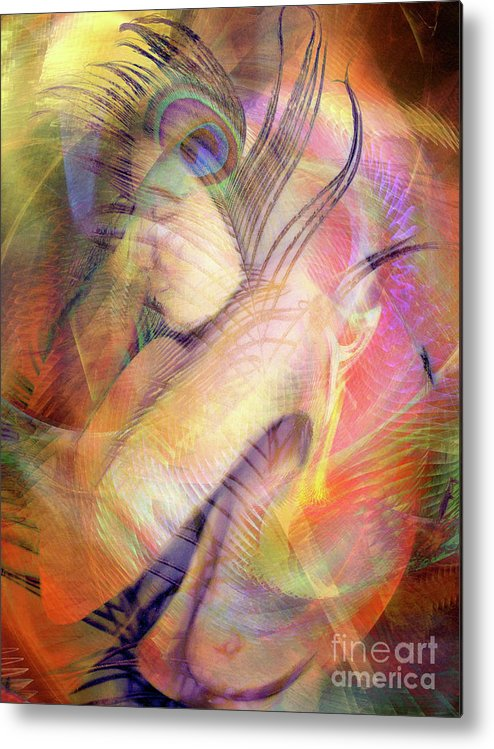 Energy Metal Print featuring the digital art What Dreams May Come 12 by Helene Kippert