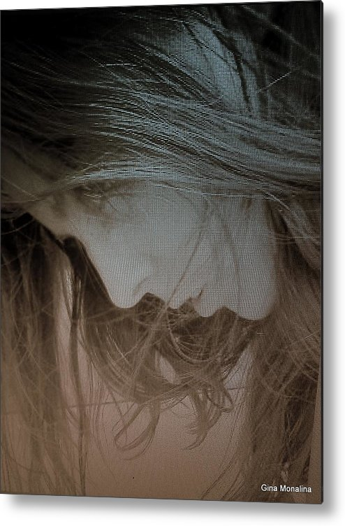 Hair Metal Print featuring the photograph A Self Portrait by Gina Monalina