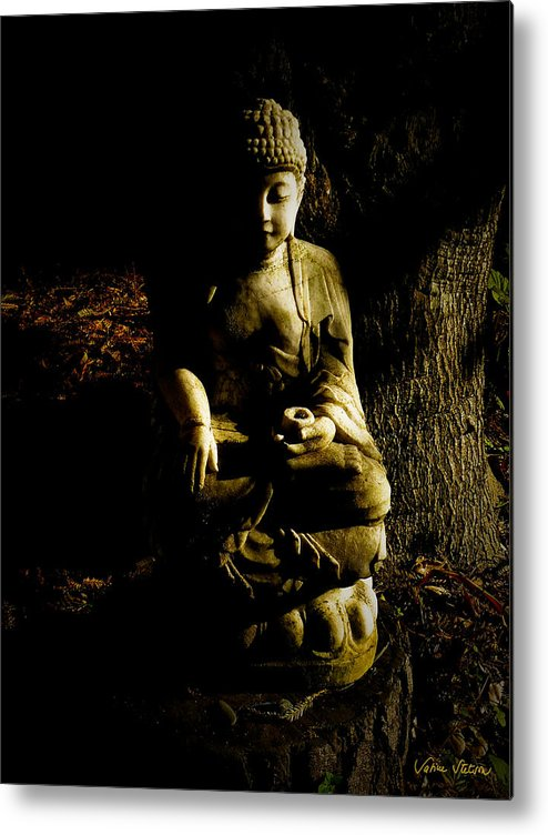 Buddha Metal Print featuring the photograph Seeing The Light by Sabine Stetson
