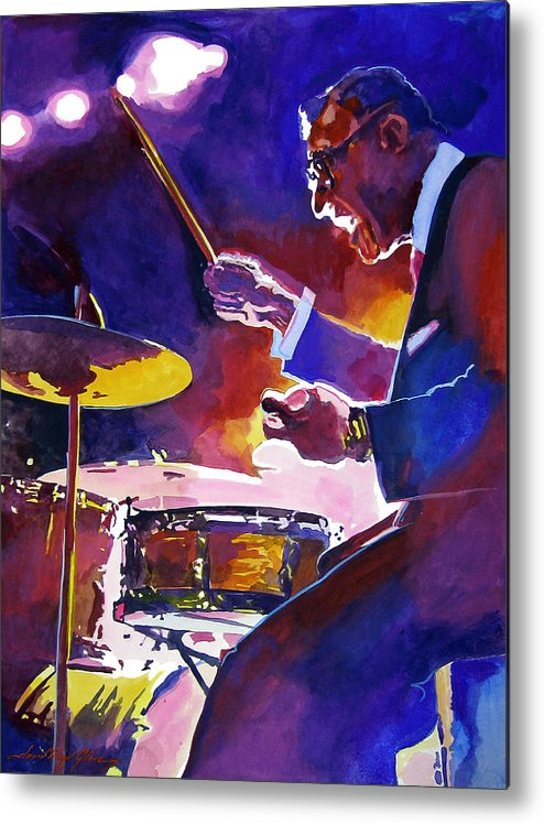 Ray Mckinley Metal Print featuring the painting Big Band Ray by David Lloyd Glover