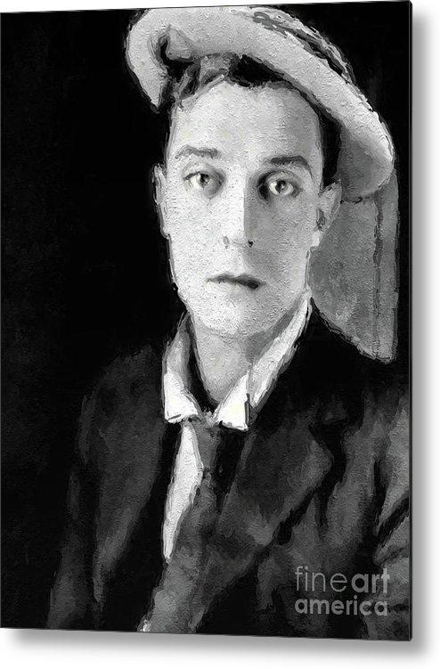 Buster Metal Print featuring the digital art Buster Keaton, Legend by John Springfield