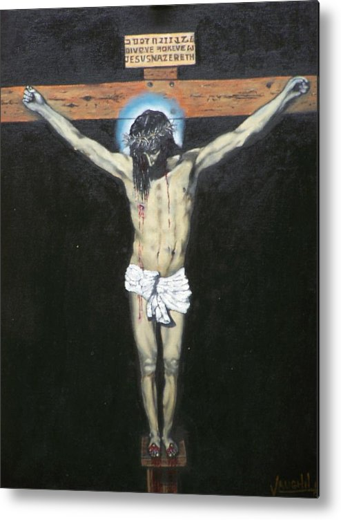 Jesus Metal Print featuring the painting Christ On The Cross by Charles Vaughn