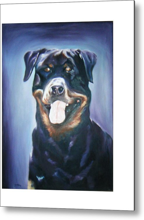 Dog Paintings Metal Print featuring the painting Dog by Olaoluwa Smith